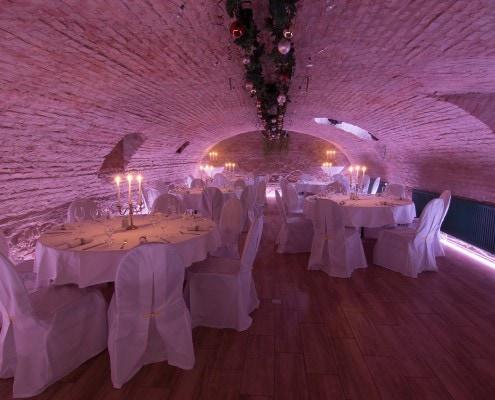 Gewölbe mit Wunsch LED Licht